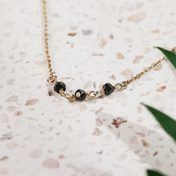 Black Spinel Gemstone necklace