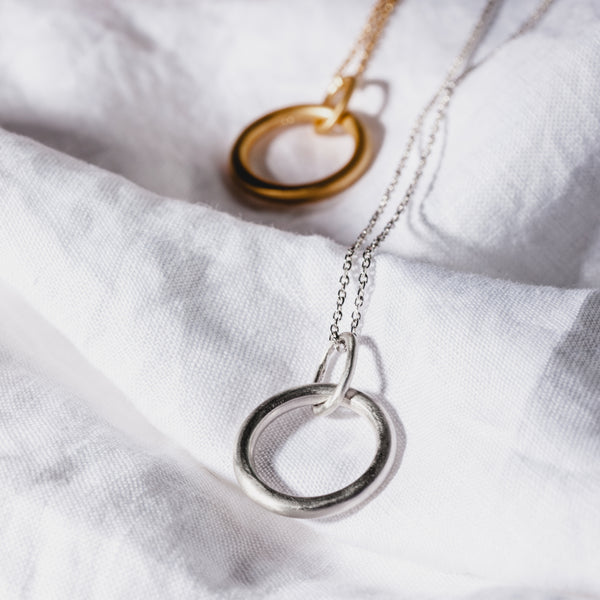 Golden Hoop Necklace
