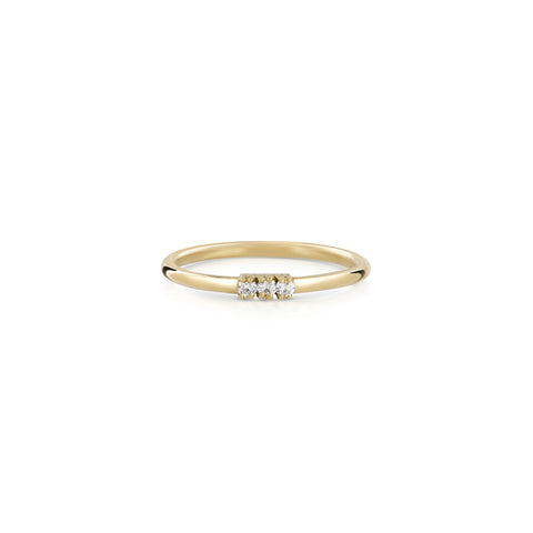 Trio ring - diamonds
