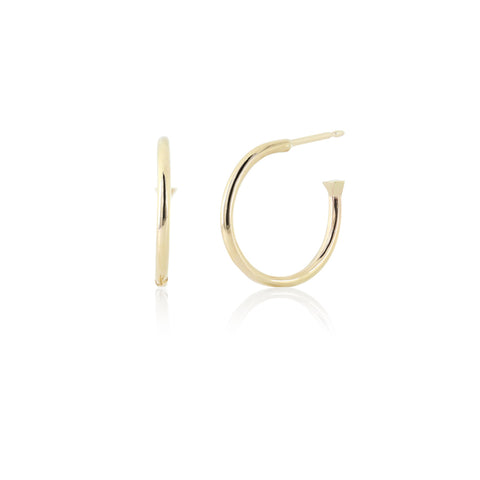 Gold vermeil medium hoops
