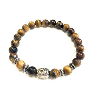 Buddha and Tiger Eye Bracelet