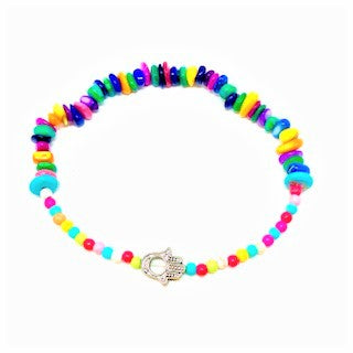 Colorful Hamsa Stretch Bracelet