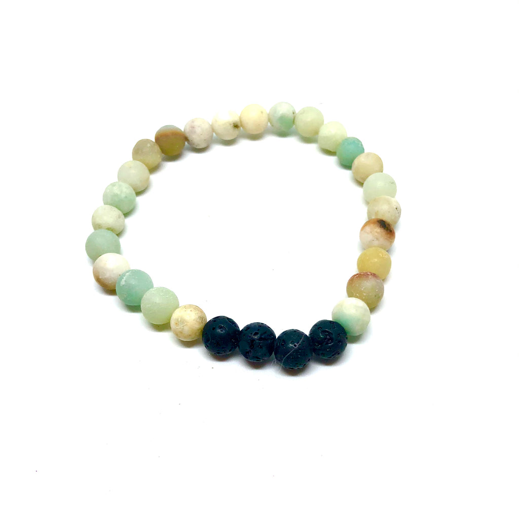 Gemston and Lava Bead Bracelet