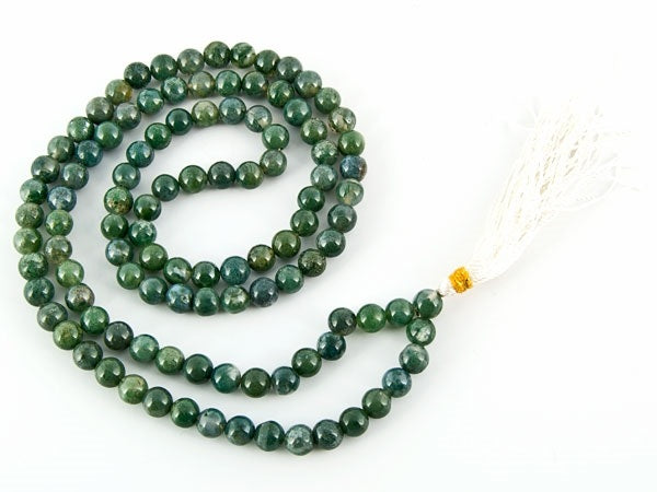 Moss Agate Prayer Mala