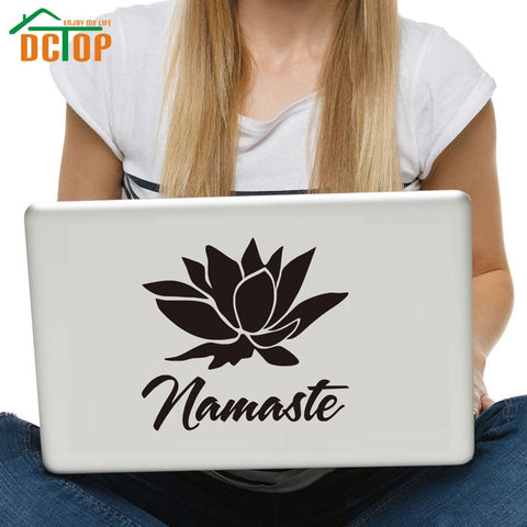Namaste & Lotus Laptop Sticker - The Metaphysical Mall