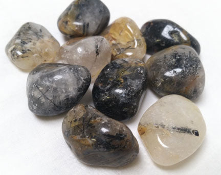 Tourmalated Quartz Tumbled Stone