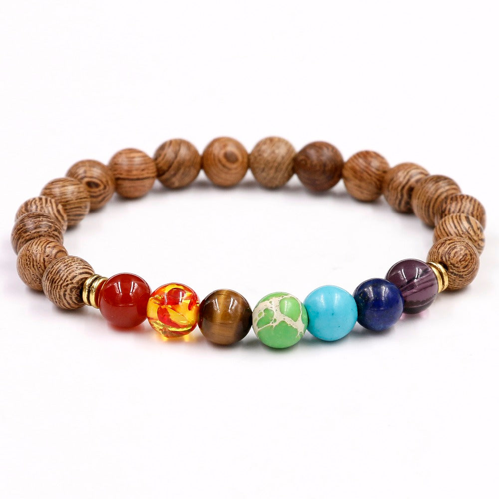 Chakra Healing Natural Stone Meditation Bracelet - Capital Elements 2 Wellness and Fitness