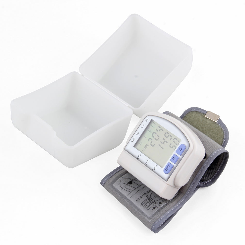 Digital LCD Wrist Arm Cuff Blood Pressure & Pulse Monitor - Capital Elements 2 Wellness and Fitness