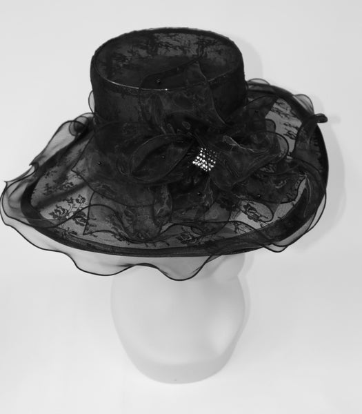 Organza Lace Black