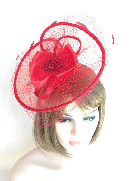 Classic Red Fascinator