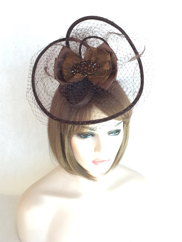 Classic Brown Fascinator