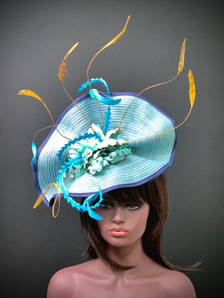 True Blue Fascinator