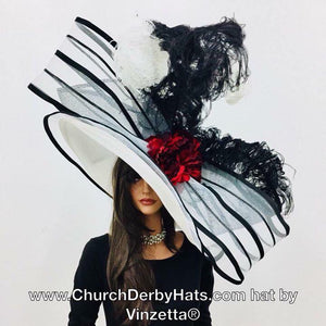 """Ode to Eliza"" huge Kentucky Derby Hat"