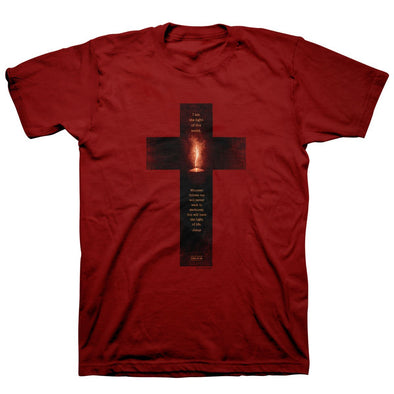 Kerusso® Christian T-Shirt Light of the World Cross