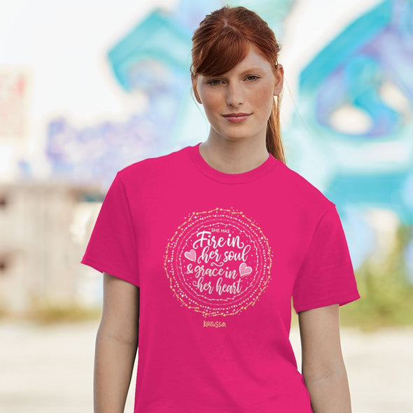 Kerusso® Womens T-Shirt Fire In Her Soul
