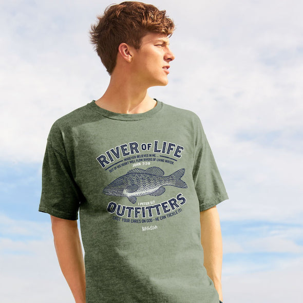 Kerusso Christian T-Shirt Living Waters 1 Peter 5:7