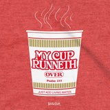Kerusso Christian T-Shirts My Cup Runneth Over Psalm 23:5