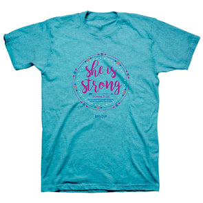 Kerusso Womens T-Shirt She Is Strong