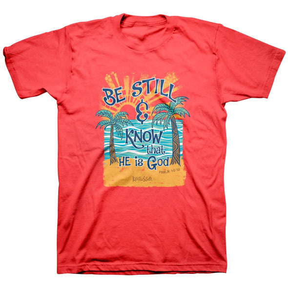 Kerusso Christian T-Shirt Be Still Beach T-Shirts