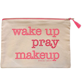grace & truth™ Wake Up Pray Makeup Zipper Bag