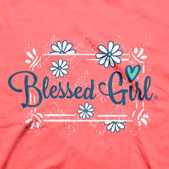 Blessed Girl Womens T-Shirt Southern Raised
