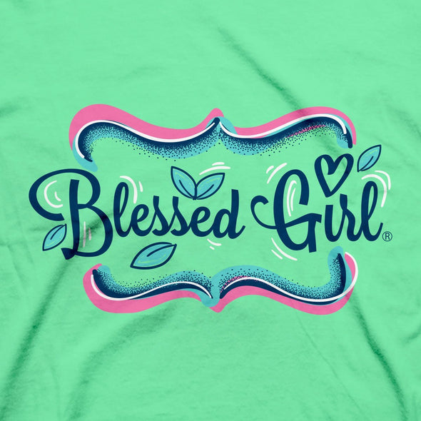 Blessed Girl Womens T-Shirt Grace Wins