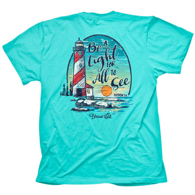 Blessed Girl Womens T-Shirt Light House T-Shirts