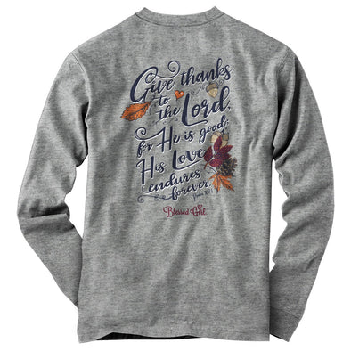 Blessed Girl Womens Long Sleeve T-Shirt Give Thanks