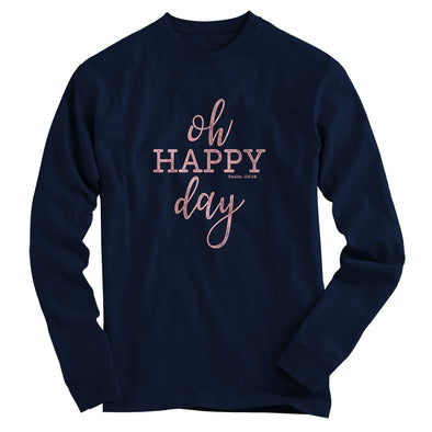 Blessed Girl Womens Long Sleeve T-Shirt Oh Happy Day