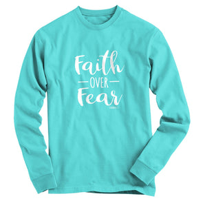 Blessed Girl Womens Long Sleeve T-Shirt Faith Over Fear T-Shirts