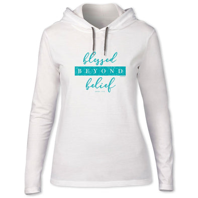 Blessed Girl Womens Long Sleeve Hooded T-Shirt Beyond Belief