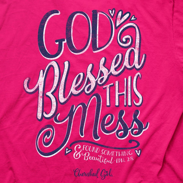 Cherished Girl® Womens T-Shirt God Blessed This Mess