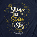 Cherished Girl Christian T-Shirt Light Shine Bright