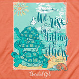 Cherished Girl Christian T-Shirt We Rise By Lifting Others 1 thessalonians 5:11