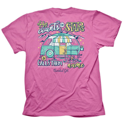 Cherished Girl Womens T-Shirt Star Camper