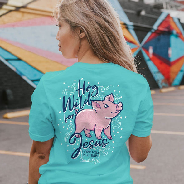 Cherished Girl Womens T-Shirt Wild Hog
