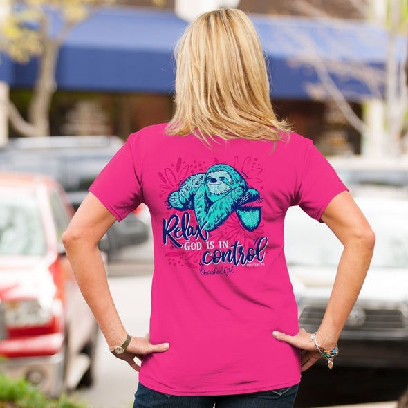 Cherished Girl Womens T-Shirt Sloth