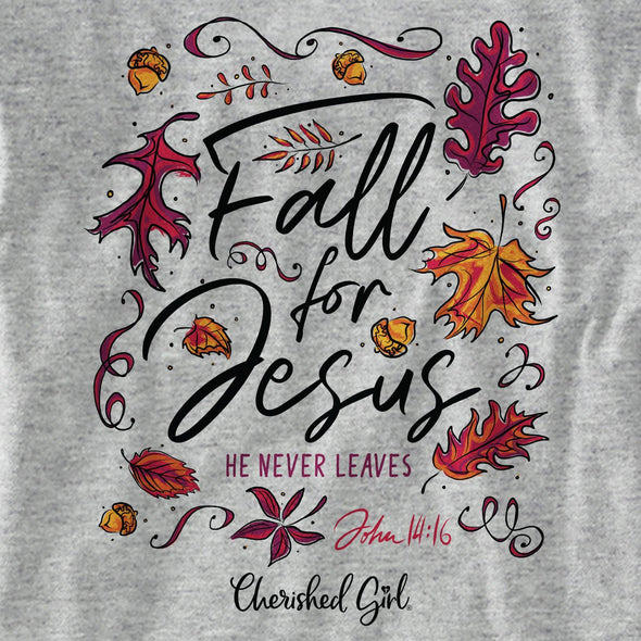 Cherished Girl Womens Long Sleeve T-Shirt Fall For Jesus