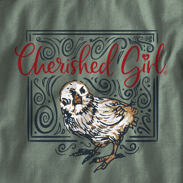 Cherished Girl Womens Long Sleeve T-Shirt Chicken
