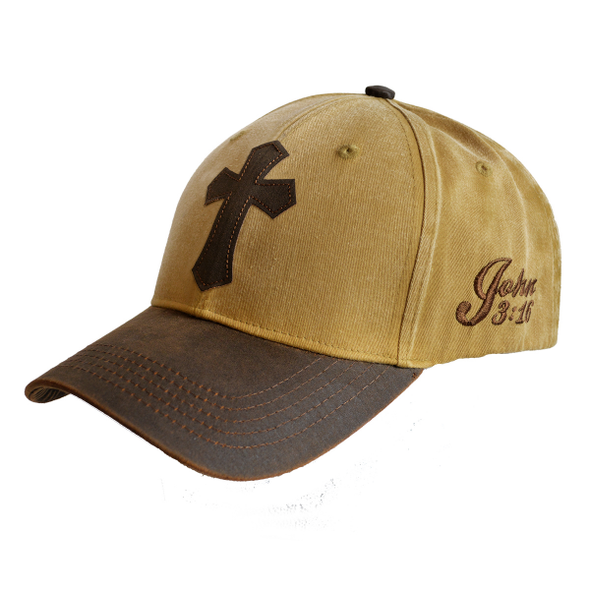 Canvas Cross Christian Cap ™