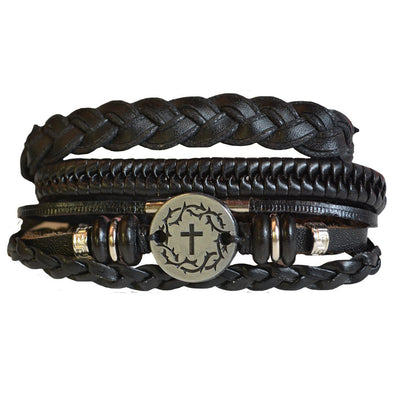 Faith Gear® Guy's Bracelet - Crown Cross