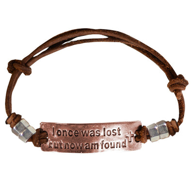 Faith Gear® Guy's Bracelet - I Once Was Lost