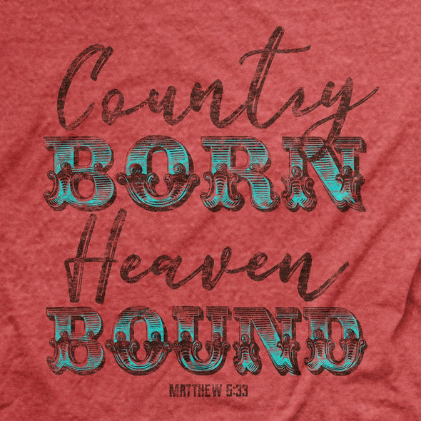Grace & Truth Womens T-Shirt Country Born Heaven Bound T-Shirts