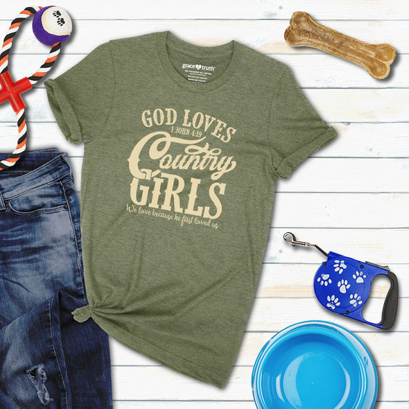 Grace & Truth Womens T-Shirt God Loves Country Girls T-Shirts