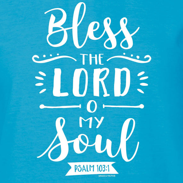 grace & truth Womens Hooded T-Shirt Bless The Lord