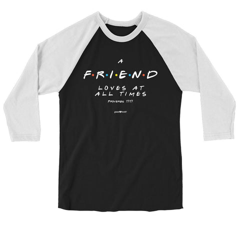 grace & truth Womens Raglan T-Shirt Friend