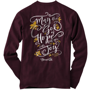 Blessed Girl Womens Long Sleeve T-Shirt God Of Hope