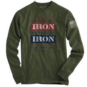 Hold Fast Mens Long Sleeve T-Shirt Iron Sharpens T-Shirts