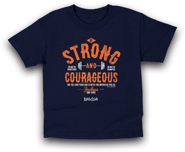 Strong and Courageous Kids Christian T-Shirt ™