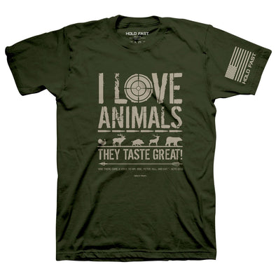 Hold Fast Christian T-Shirt Eating Animals